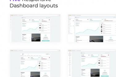 简洁的客户管理后台仪表盘HTML设计模板