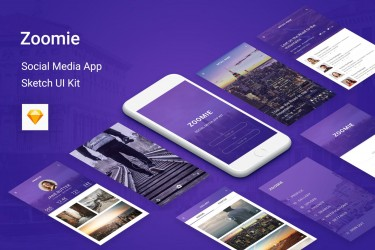 精美独特的社交app设计模板