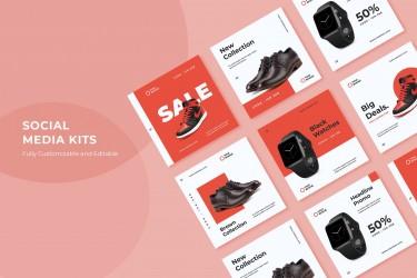 高品质的网页悬浮广告设计模板