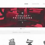 新潮的时髦复古风格的WEB网站设计展示