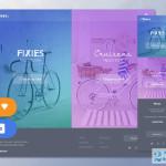 自行车主题的UI Kit素材包下载(含PSD和Sketch)