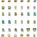 设计师原创形象IP创业—780个线性表情包素材下载