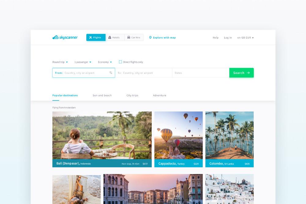 UX案例研究——旅游平台Skyscanner的网页设计