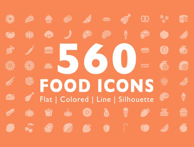 设计好看的美食图标素材