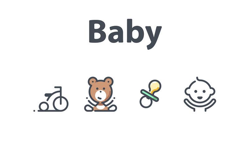 22个母婴宝宝相关的图标素材