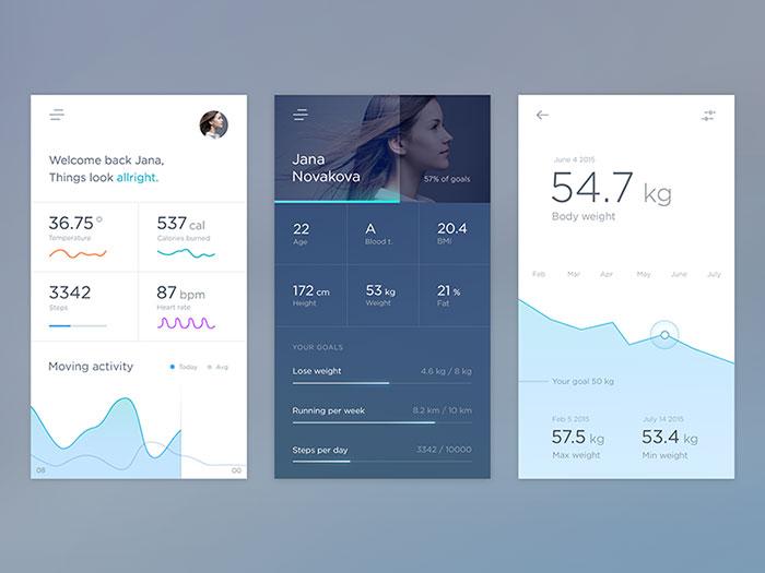 移动UI设计灵感:图表和图形