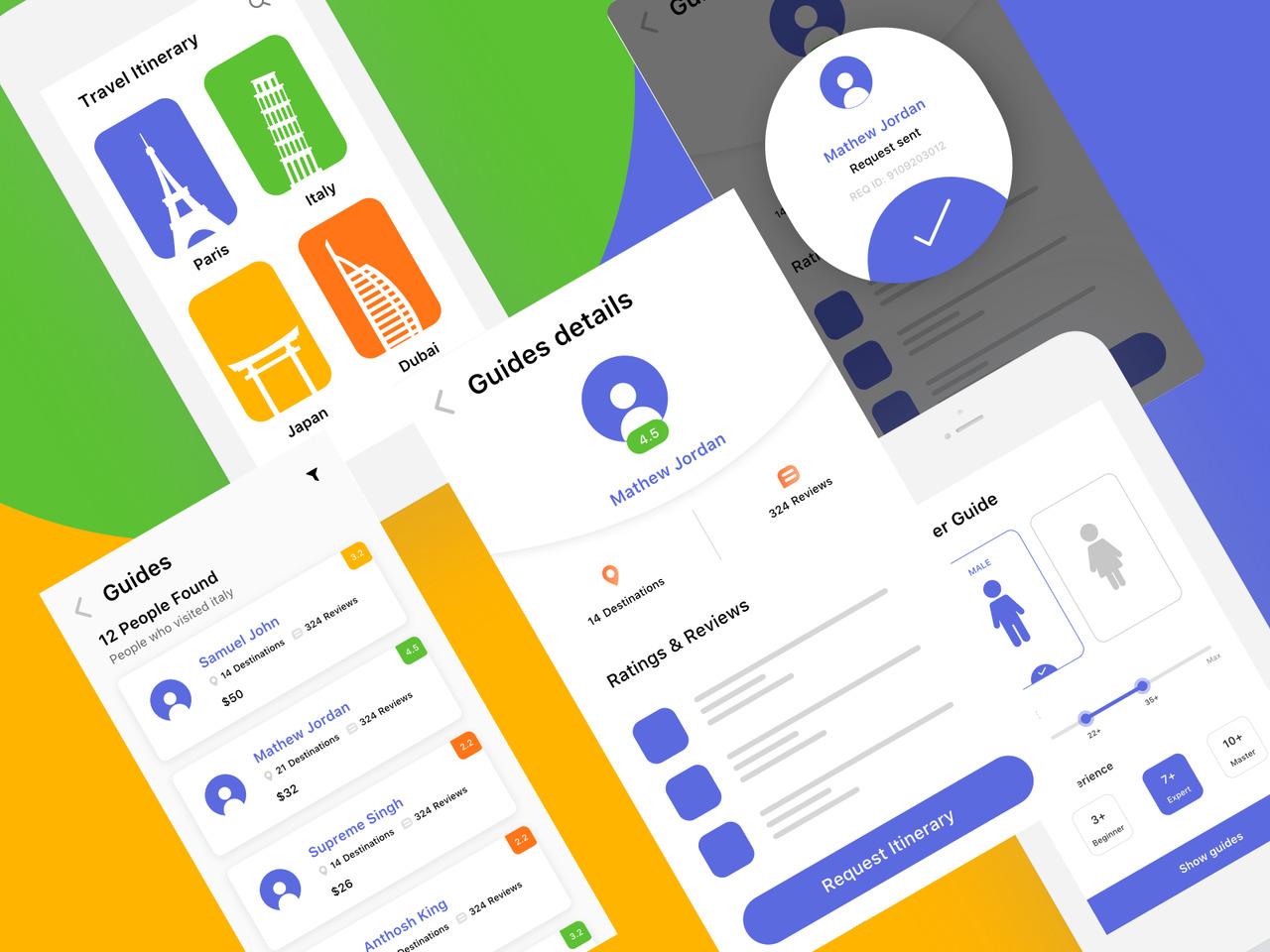 旅行app UI / UX设计案例研究