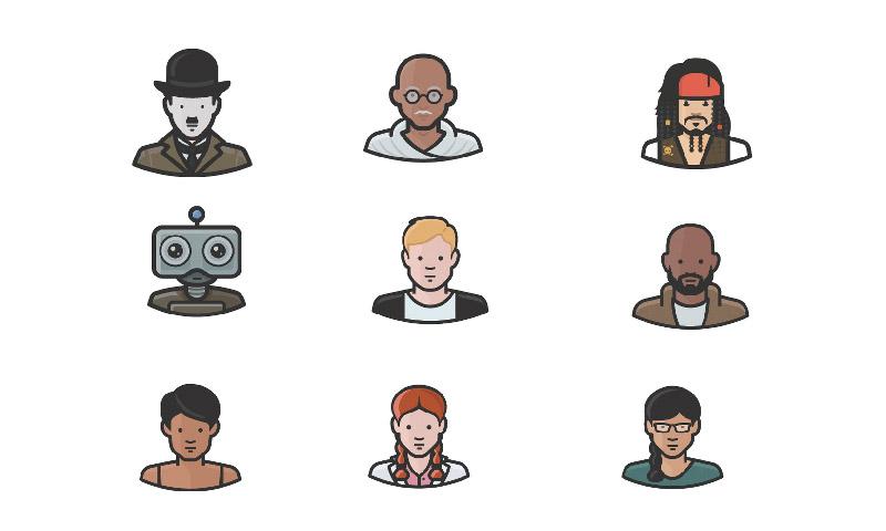 100个设计独特的头像图标