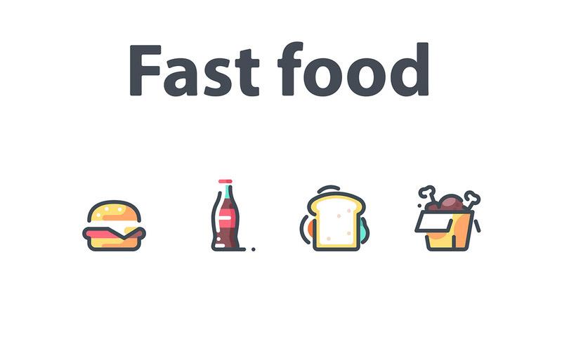 20个垃圾食品图标