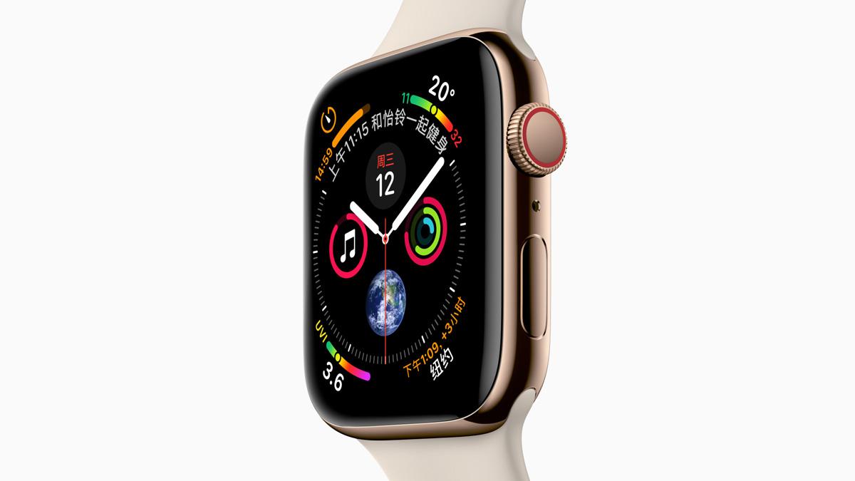 新Apple Watch Series 4尺寸规格