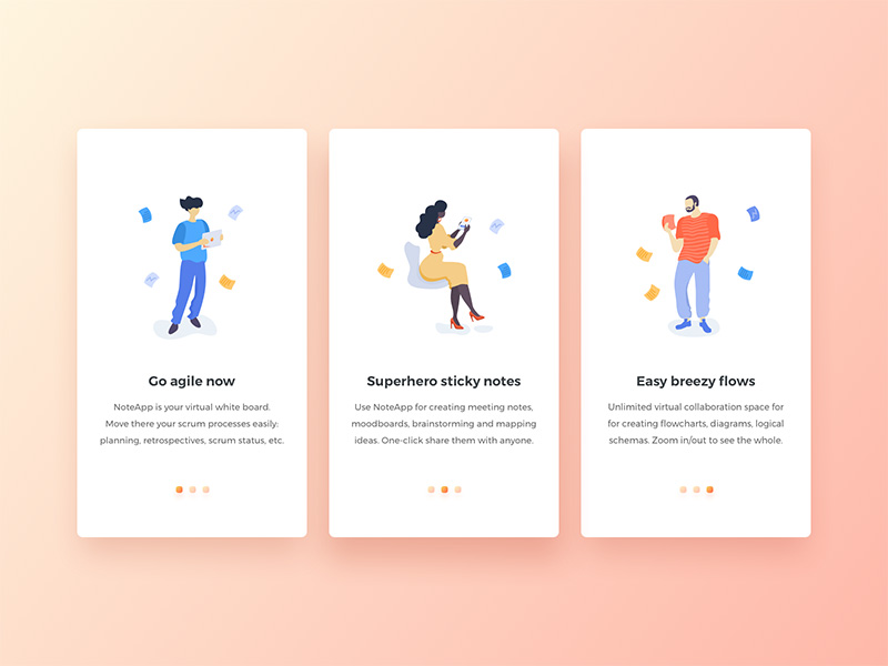 插画类App引导页设计欣赏
