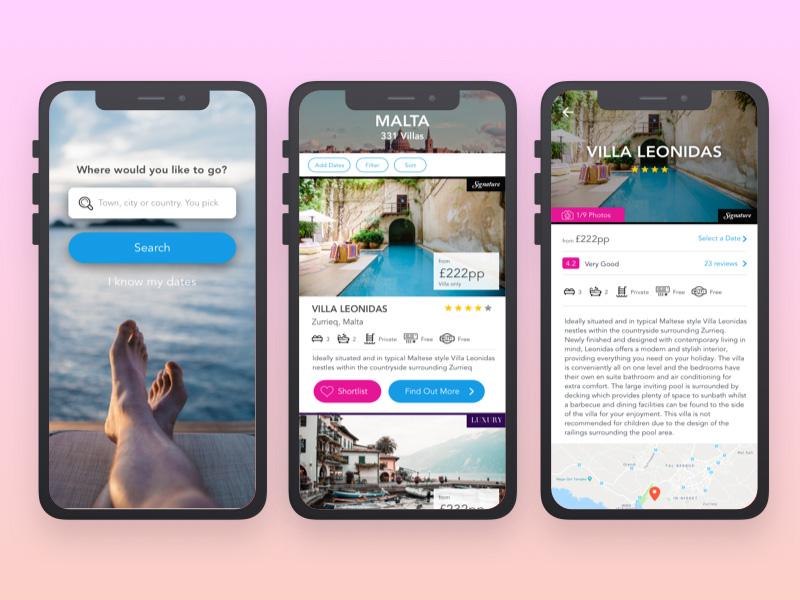 创意的旅行旅游App设计灵感