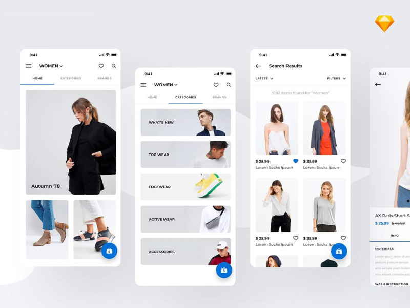 时尚的购物app设计欣赏