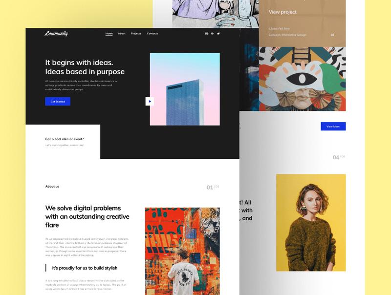 个人作品网站的前端和界面设计模板