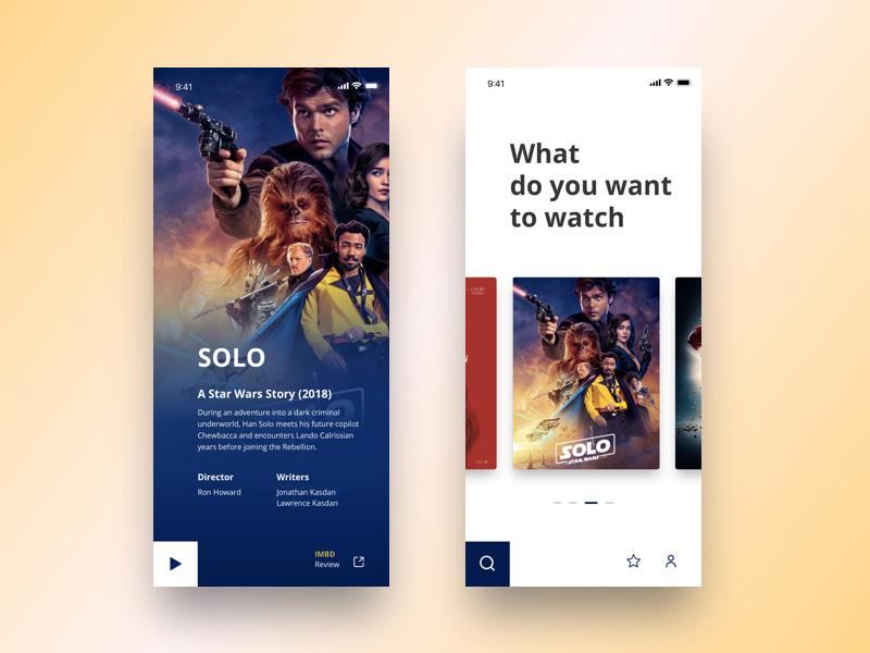 电影推荐及购票app界面设计灵感