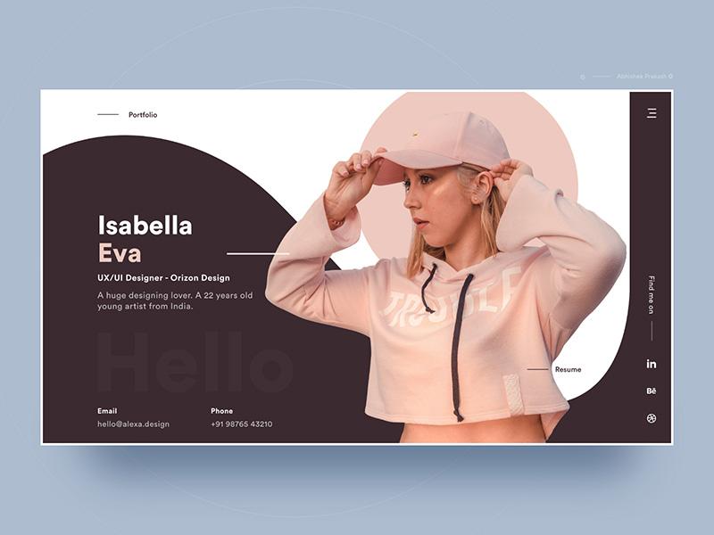 个人网站的页面设计风格欣赏