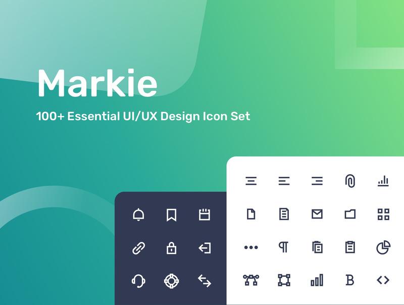 100多个常用的UI/UX设计图标素材