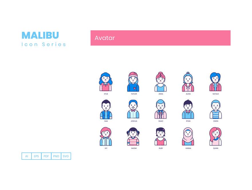50个用户头像图标素材